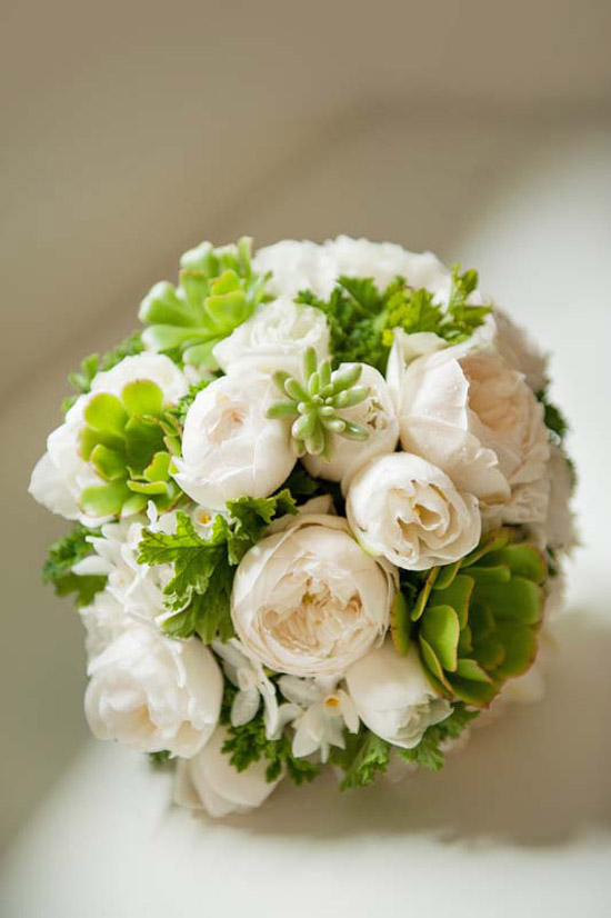 David Austin Bridesmaid Bouquet
